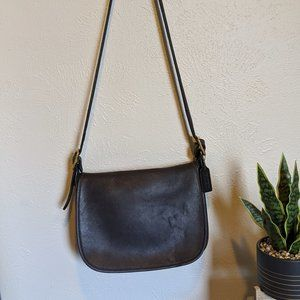 Vintage black coach cross body